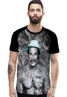 Camiseta Stompy Raglan Modelo 107 Masculina - Masculino-Preto