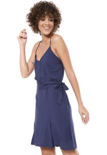 cff3fd62a5cb Vestido Azul Marinho Ombro feminino   Starving