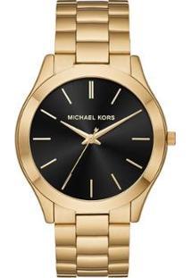 Relógio Michael Kors Feminino Slim Runway - Mk8621/1Dn Mk8621/1Dn - Feminino-Dourado