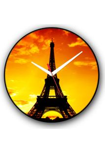 Relógio De Parede Colours Creative Photo Decor - Torre Eiffel Em Paris, França