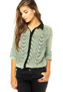 Camisa Mooncity Bordado Verde