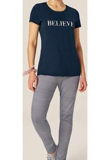 Pijama Feminino Longo Malwee 1000077277 02023-Azul