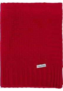 Manta Cobertor De Berã§O Tricã´ Tamine Luxo Vermelho.. - Vermelho - Dafiti
