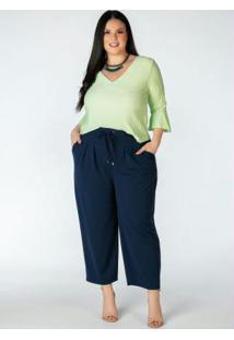 Blusa Plus Size Verde Menta