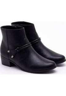 Ankle Boot Comfortflex Preta 35