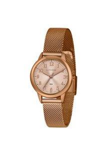 Kit Relógio Feminino Lince Lrr4653L R2Rx Analógico 50Atm + Brinde   Lince   Dourado   U