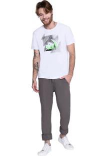 Camiseta M/C Comfort Silk Arquitetura M.Officer Branco