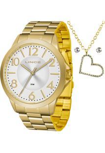 Kit Relógio Lince Feminino Com Colar E Brincos Lrgj080Lkv84S2Kx