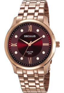 Relógio Seculus Feminino Long Life 77007Lpsvra3