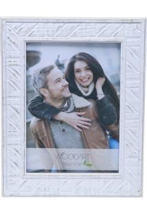 Porta Retrato Rojemac Branco Para 1 Foto 13X18 Listras Woodart
