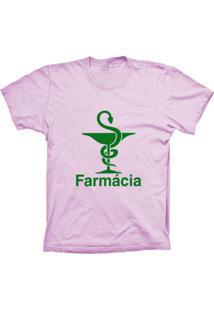 Camiseta Baby Look Lu Geek Farmácia Rosa