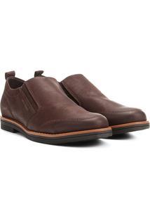 Sapato Casual Couro West Coast Clive Masculino - Masculino-Café