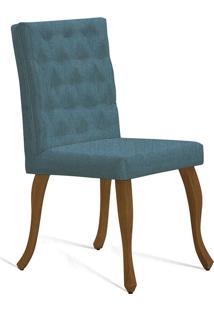 Cadeira Juliete T1090 Com Capitonê-Daf Mobiliário - Verde