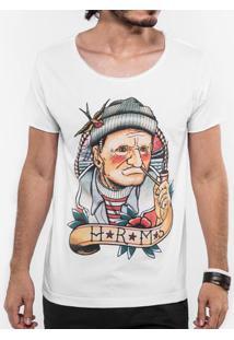 Camiseta Velho Sailor Branca 103354
