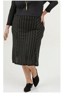 Saia Feminina Listrada Plus Size Marisa