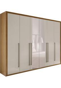 Guarda-Roupa Casal Com Espelho Reali New 6 Pt 6 Gv Rovere E Off White