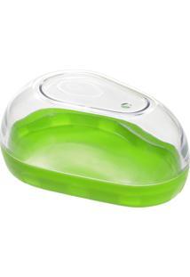 Porta Abacate Progressive Plastico Transparente/Verde