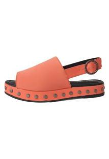 Sandália Nobuck Sapatos E Botas Tachas Coral