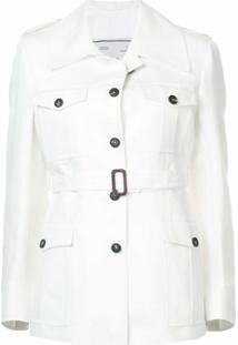 Giuliva Heritage Jaqueta Slim Com Cinto - Branco
