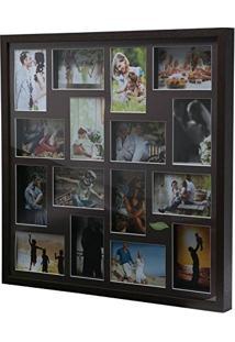 Painel De Fotos Tabaco Collection Para 16 Fotos 10X15 Woodart