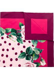 Dolce & Gabbana Lenço De Seda Estampado - Rosa