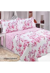 644c69307d ... loja  Conjunto De Colcha Patchwork Bouti Casal- Branco   Rosa