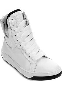 Tênis Cano Alto Hardcorefootwear Acolchoado Feminino - Feminino-Branco