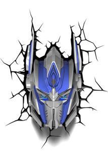 Luminaria Optimus Prime 3D Plastico Azul