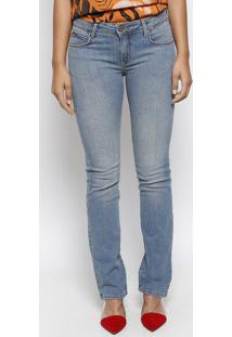 Jeans Verã´Nica Skinny Lisa- Azul- Forumforum