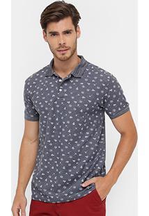 Camisa Polo Bluebay Piquet Navy Masculina - Masculino