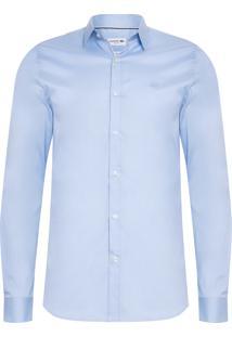 Camisa Masculina Slim Fit - Azul