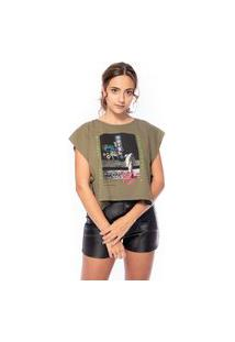 "T-Shirt Estampada ""Sign On The Moon"""""""