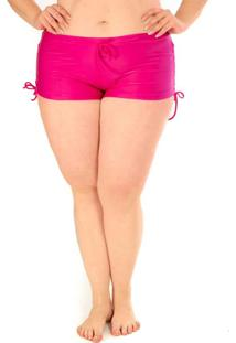 Calcinha Shorts Plus Size Acqua Rosa Rosa Jaipur