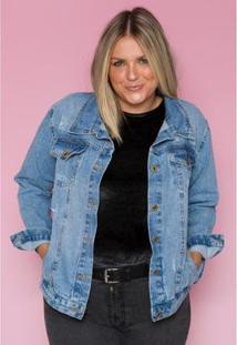 Jaquetas Jeans Sisilla Giorgia Feminina - Feminino-Azul