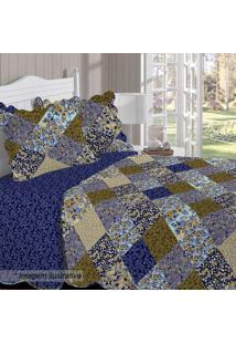 Conjunto De Colcha Renove Anitas Queen Size- Azul Escurobuettner