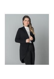 Cardigan Plus Size Feminino Secret Glam Preto
