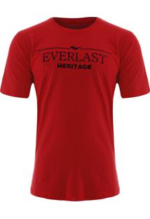 Camiseta Everlast Básica Vermelho