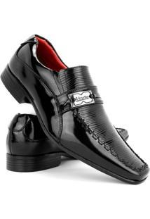 Sapato Social Masculino Venetto Verniz - Masculino-Preto