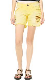 Bermuda Sarja Colcci Color Amarela
