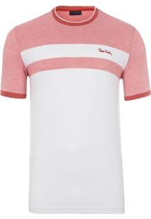 Camiseta Striped Salmon