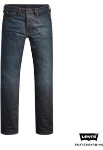Calça Jeans Levis Man Skateboarding 504 Straight Média - Masculino-Azul