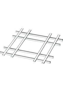 Descanso Para Panelas- Prateado- 1,5X19X19Cm- Fufuture