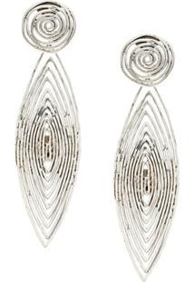Gas Bijoux Long Wave Earrings - Metálico