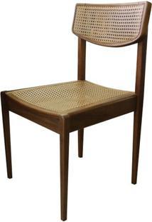 Cadeira Vereda Em Madeira Tauari Com Assento E Encosto Em Palha Sextavada Cor Mascavo - 50452 Sun House