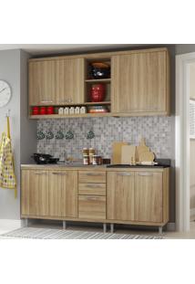 Cozinha Compacta 8 Portas Para Pia Com Balcão 5818 Argila - Multimóveis