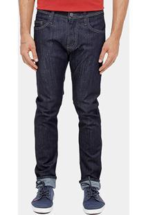 Calça Jeans Skinny Colcci Felipe Escura Pesponto Masculina - Masculino