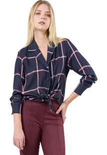 Camisa Mx Fashion Xadrez Rennan Azul