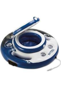 Bar Cooler Flutuante 15 Litros Intex 30 Latas 05 Porta Copos - Unissex-Azul