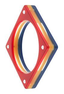 Karl Lagerfeld Bracelete Quadrado - Vermelho