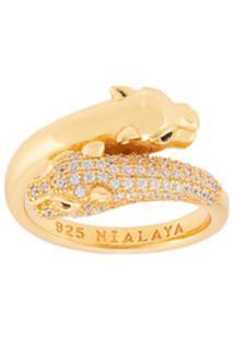 Nialaya Jewelry Panther Twisted Ring - Dourado